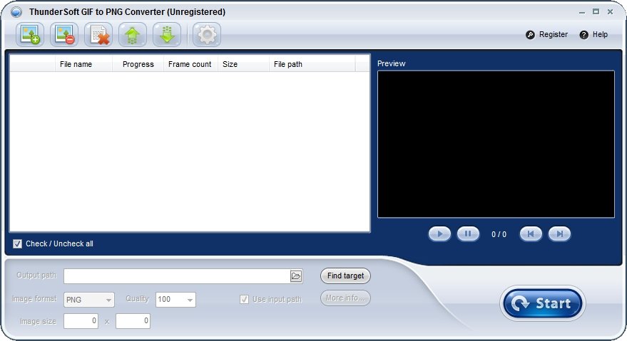GIF转PNG软件ThunderSoft GIF to PNG Converter v2.7.0 官第1张